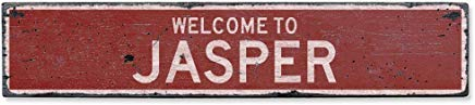 bawansign Welcome to Jasper Vintage US Jasper, Arkansas Distressed Custom Wooden City Sign Home Decor Wood Plaque Gift for Women - Wooden Jasper