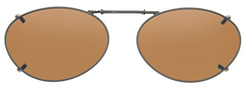 Cocoons Polarized Clip-on Oval 3 L679A Sunglasses, Bronze, 50 - Cocoons On Polarized Clip Sunglasses