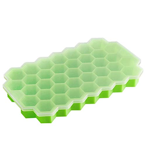 ❤Lemoning❤ Honeycomb Shape Ice Cube Maker 2Pcs Ice Tray Ice Cube Mold Storage Containers -