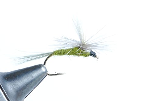 Blue Wing Olive Parachute Dry Fly, 6 Pack (#18)