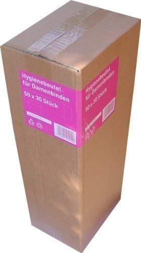 1500 Pieza Bolsa de higiene para Toallas sanitarias (50 Paquetes je 30 Piezas)