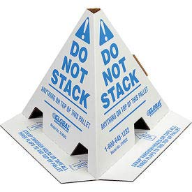 Do Not Stack Pallet Cones, 8'' x 8'' x 10'', 50/Pk, Lot of 1 by Global Industrial