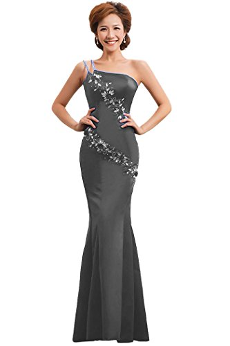 Shoulder One Emily Grau mit Beauty formale Abendkleid Mermaid qE6575H