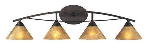 Elysburg Light 4 Vanity - Elk 17029/4 Elysburg 4-Light Vanity In Aged Bronze