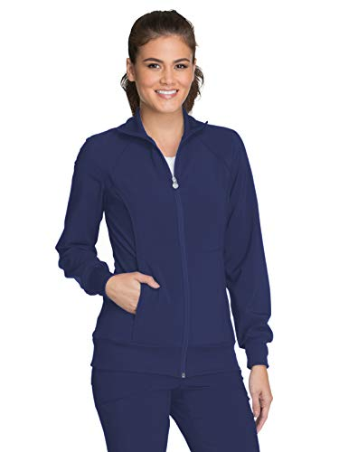 Cherokee Infinity 2391A Zip Front Warm-Up Jacket Navy S