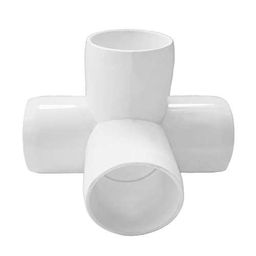 4 Way 1inch Tee PVC Fitting Elbow 1in - Build Heavy Duty PVC Furniture - PVC Elbow Fittings [Pack of 8] by SELLERS360 (Image #3)