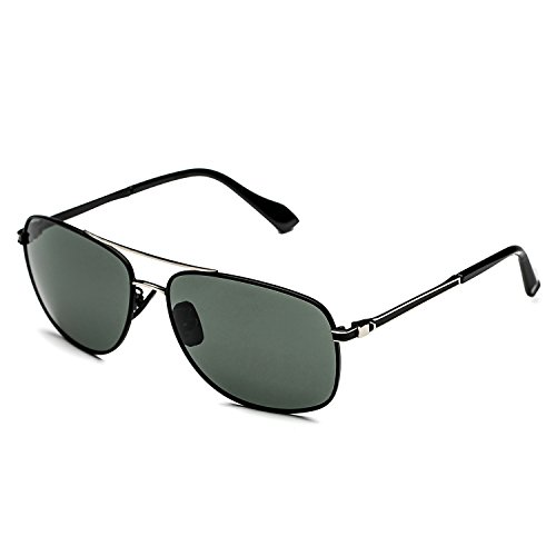 CHB Men's Polarized Sunglasses for driving unbreakable frame 100% UV - Sunglasses Bvl