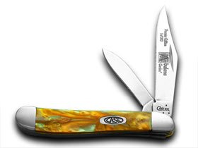 CASE XX Abalone Genuine Corelon 1/500 Peanut Pocket Knife Knives