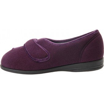 COSYFEET OLIVIA SLIPPERS- POUR FEMME PRUNE