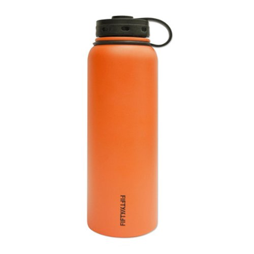 Lifeline Water Bottles (Lifeline 7502OR Orange Stainless Steel Wide Mouth Water Bottle - 40 oz. Capacity)