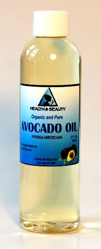Avocado Oil Organic Carrier Cold Pressed 100% Pure 4 oz