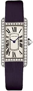 Cartier Tank Americaine 18kt White Gold Diamond Ladies Watch WB707331