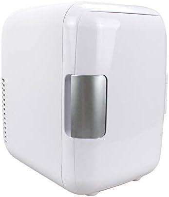 Monland ミニ冷蔵庫、12V 4リットル ポータブルミニ冷蔵庫クーラーおよびウォーマー AC/電源コード付き、超静音車内冷凍庫 車用、ロードトリップ、寝室、オフィス用 ホワイト