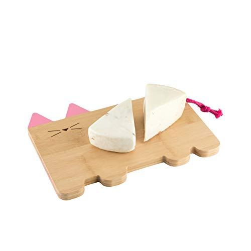 TrueZoo Cat Cheeseboard, Pink