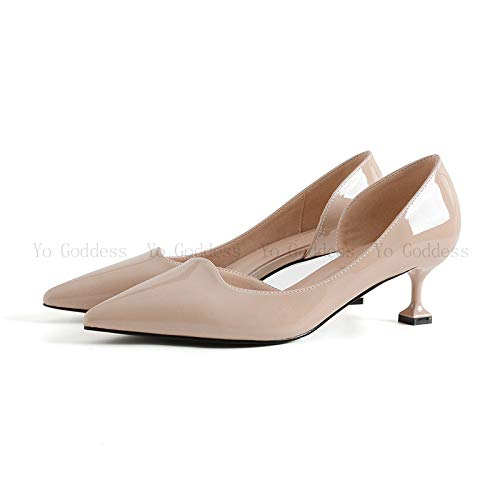 Wild Fine Single High Wind 5Cm Seasons Gentle Color heels With Shoes With Apricot Yukun Pu Four Nude Kitten With Female g6PqCgwE