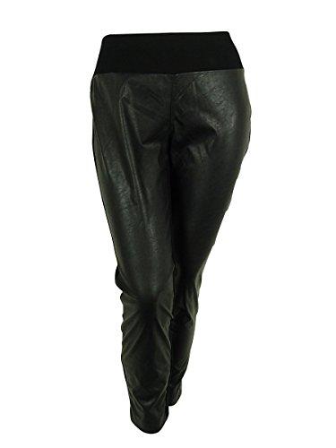 INC Womens Plus Skinny Leg Faux Leather Casual Pants Black 16W