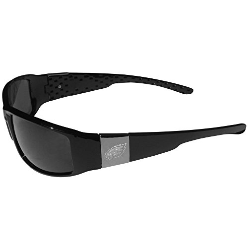 NFL Philadelphia Eagles Chrome Wrap (Eagles Black Frame Sunglasses)