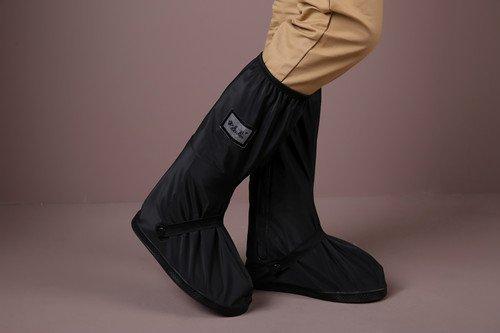 Men Women Waterproof Shoes Rain Snow Covers, Reusable Rain Boot Shoe Cover with reflector Rain Snow Protective Slip-resistant For Springtime Summer Rainstorm Rainy Day (XL size = 32cm, (Super Foot Warmer Large Rubber)