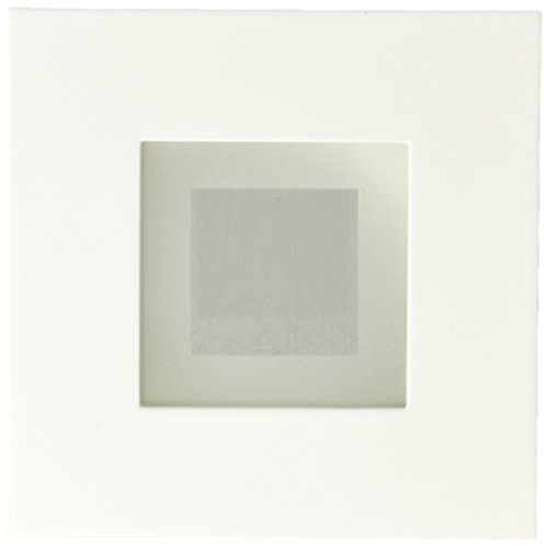 Juno Lighting 12SQ WWH 4'' Square Recessed Shower, Frosted Glass with White Trim by Juno Lighting