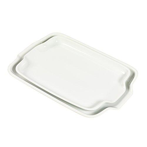 "Set of 2 14"" & 16"" Rectangular Handled Platters"