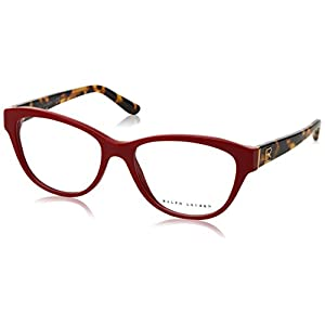 Ralph Lauren RL6145 Eyeglass Frames 5599-54 - Shiny Laque Red RL6145-5599-54