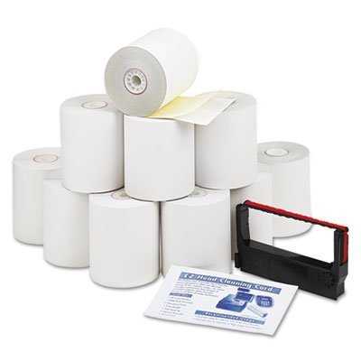 Debit Verification Kit - PM Company : Credit/Debit Verification Kit, 3 x 90 ft, White/Canary, 10/Carton -:- Sold as 1 CT by PM Company
