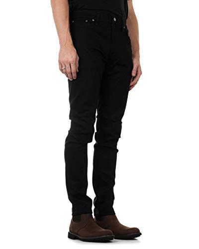 Hombre Vaqueros Ever Jeans Para Nudie Dry Black Slim Lean Dean qZfwHY