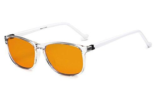 Eyekepper 97% Blue Blocking Eyeglasses for Kids,Dark Orange Lens with Anti Reflective Coating Computer Eyewear (Transparent) by Eyekepper