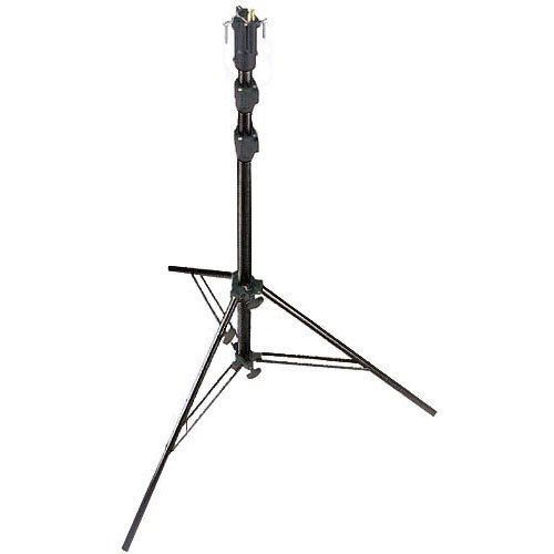 Stand Cine (Manfrotto 256BUAC- 3 Self- Locking 3- Section Air Cushioned Cine Stand with Leveling Leg - Replaces 3344B (Black))