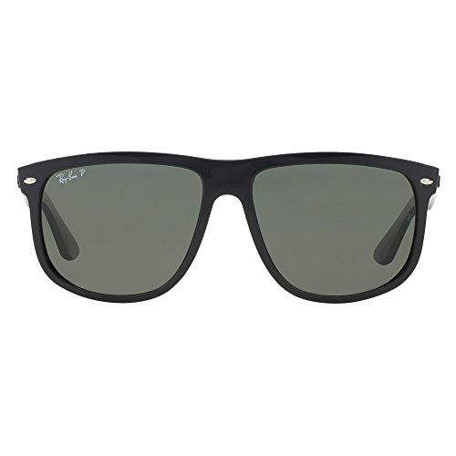 Ray-Ban Mens 4147 60mm Polarized Black/Crystal Green Polarized none none