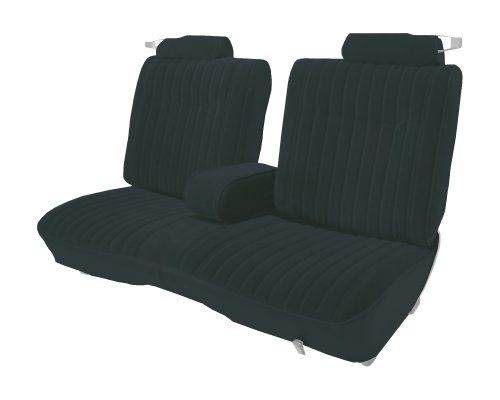 Acme U207L-AC842 Front Charcoal Leather Bench Seat Upholstery