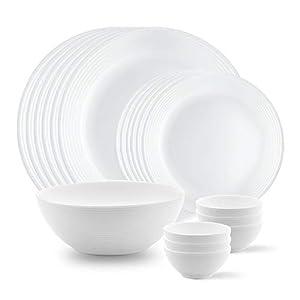 Larah by BOROSIL Opalware Dinner Set - 19 Pieces