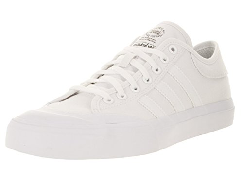 adidas Mens Matchcourt Sneakers, White/White/White, (4.5 M US) Black///White