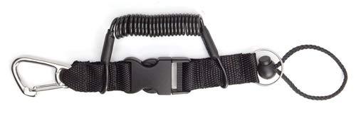 XS Scuba 52'' Coil Lanyard, Steel Clip/Split Ring