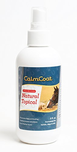 - Calm Coat Natural Topical for Horses Dogs & Cats - Natural Oils to Promote Healing & Skin Relief for Irritations - for Cuts, Itchy Hot Spots, Bug Bites - Herbal Scent 8 oz