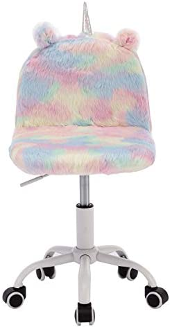 DUOMAY Cute Colorful Kids Study Desk Chair Animal Children Boy Girl Computer Rolling Chair Adjustable Swivel Chair