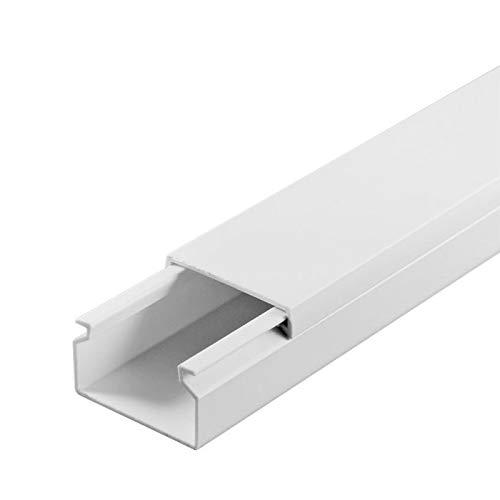 SCOS Smartcosat SCOSKK70 20 m Kabelkanal (L x B x H 2000 x 30 x 20 mm, PVC, Kabelleiste, Selbstklebend) weiß B07HZBJPPK | Hohe Qualität Und Geringen Overhead