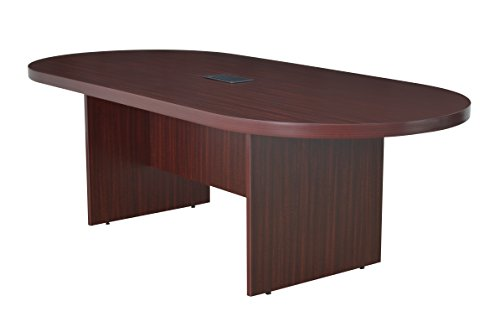 Regency LCTRT9543-MH with with Power Data Grommets Legacy Racetrack Conference Table, 95-inch, Mahogany