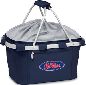 PICNIC TIME NCAA Mississippi Old Miss Rebels Digital Print Metro Basket, One Size, Navy