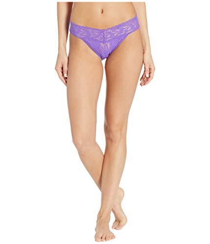 Hanky Panky Women's Signature Lace V-Kini Vibrant Violet Medium (Rise Low Bikini Sheer)