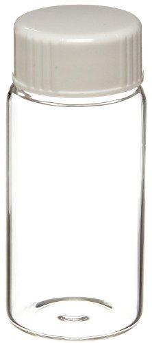 Wheaton 986542 Borosilicate Glass 20mL Liquid Scintillation Vial, with 22-400 White Urea Metal Foil Lined Screw Cap Attached ()