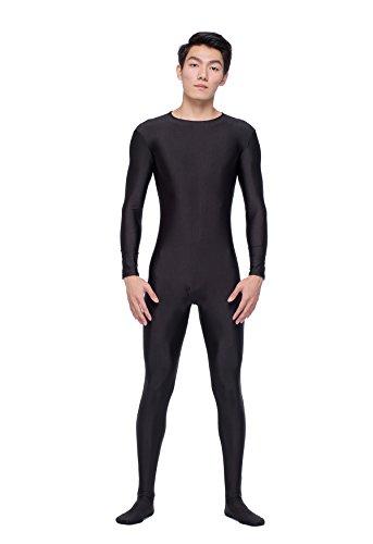 Adult Jumpsuit COLOR LIFE Lycra Spandex Bodysuit One Piece Unitard Men Full Bodysuit Costume (Full Bodysuit Costume)
