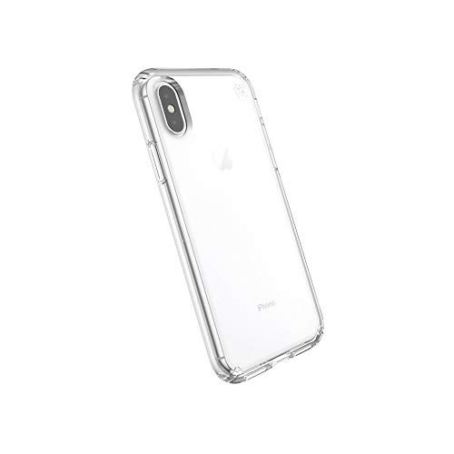 Speck Products Compatible Phone Case for Apple iPhone XS/iPhone X, PRESIDIO STAY CLEAR Case, Clear/Clear