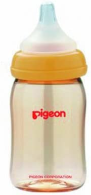 Pigeon Peristaltic PLUS PPSU Nursing Bottle BPA Free 160 ml with nipple size SS by Pigeon