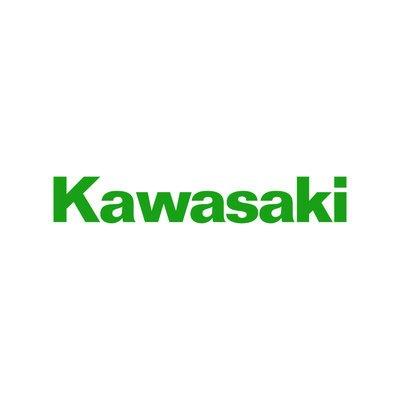 Kawasaki logo replica sticker moto decal motorcycles adesivo prespaziato senza fondo in vinile colore verde chiaro lucido 20 centimetri.
