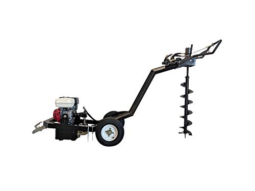 Hoc Honda 9 HP ATEA Towable Auger Little Beaver + 5 Free Bits (5 6 8 10 and 12 Inch) + 1 Year Warranty
