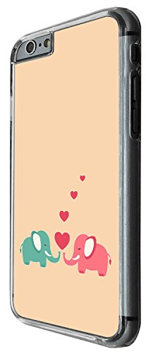 1522 - Cool Fun Trendy cute kwaii animals school sketch illustration funny cartoon fashion heart elephant Design iphone 5C Coque Fashion Trend Case Coque Protection Cover plastique et métal - Clear