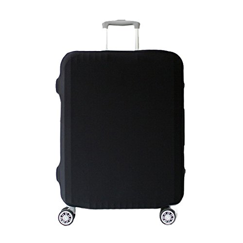 Artone Washable Spandex Travel Luggage Protector Baggage Suitcase Cover Fit 22-24 Inch Luggage Black by Artone