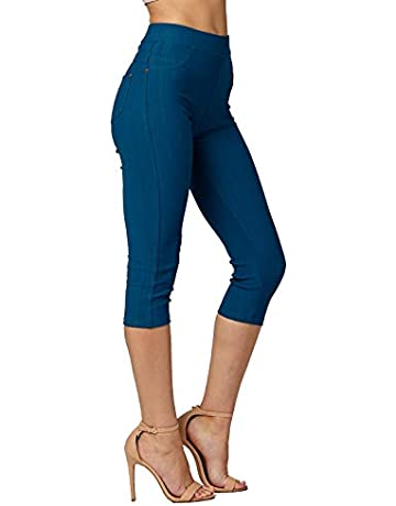 52e0e0c2cfe47b Conceited Premium Jeggings for Women - Full and Capri Length - Regular and  Plus Sizes -