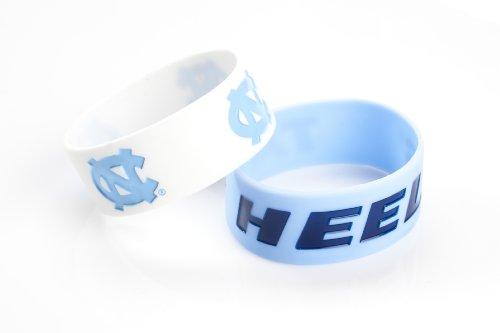 NCAA North Carolina Tar Heels Silicone Rubber Bracelet, 2-Pack
